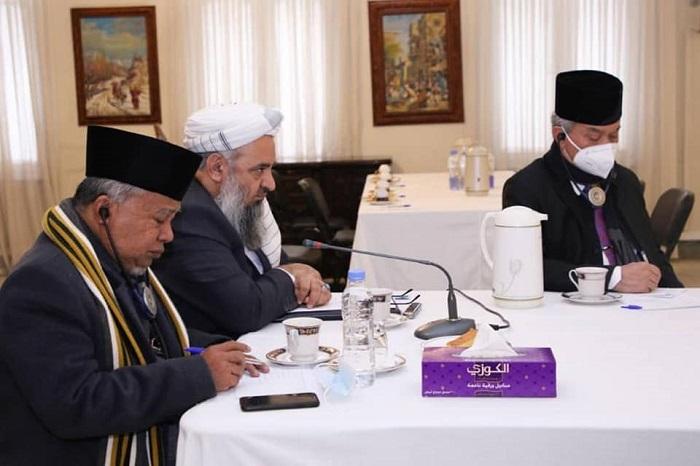 نشست مشترک رهبری وزارت و علمای اناثیه با رئیس سازمان علمای محمدیه کشور اندونیزیا و هیات همراهش