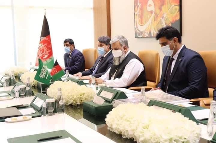 ملاقات وزیر حج، ارشاد و اوقاف جمهوری اسلامی افغانستان با رئیس عمومی اوقاف عربستان سعودی
